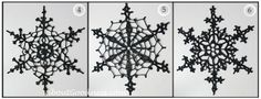These dark crochet snowflakes catch the attention, and also accent the decoration of white snowflakes on the dark magnet frame. Description from aboutgoodness.wordpress.com. I searched for this on bing.com/images