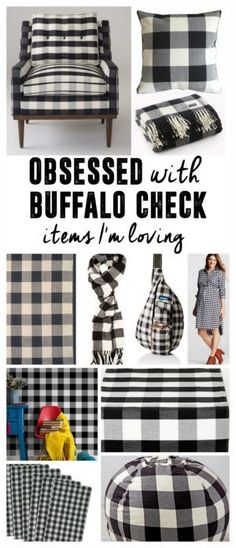 A Pattern I'm Loving- Buffalo Check, Buffalo Plaid, Black and White Plaid, Black and White Check, Buffalo Print Items www.BrightGreenDoor.com