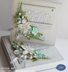 od A do Zet: Pamiątka Chrztu Scrapbook Box, Scrapbooking, Flower Cards, Paper Flowers, Shabby Chic Cards, Engagement Cards, Sympathy Cards, Paper Cards, Cute Cards