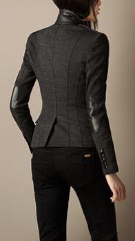 Leather Detail Blazer | Burberry