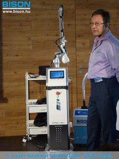 Dr. Gyetván János plasztikai sebész rendkívül tartalmas és izgalmas előadása következett a CO2 lézerek felhasználási területeiről.
