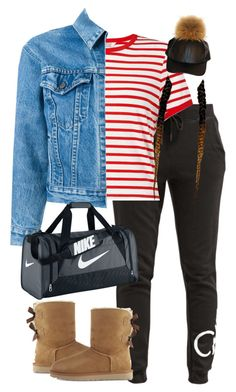 """""""9.27.16"""" by mcmlxxi ❤ liked on Polyvore featuring UGG, Calvin Klein, Miss Selfridge, Levi's and NIKE"""