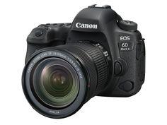 キヤノンは、デジタル一眼レフカメラ「EOS 6D Mark II」を8月上旬に発売する。ボディ単体、EF24-70mm F4L ISレンズキット、EF24-105mm IS STMレンズキットを用意する。店頭予想価格はボディ単体が税別22万5,000円前後、EF24-70mm F4L ISレンズキットが税別32万7,000円前後、24-105 STMキットが税別26万9,000円前後。