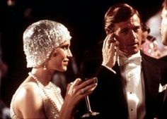 #Glitz, Glamour + Gatsby Flapper fashion - mia farrow robert redford - the great gatsby 1970s.jpg