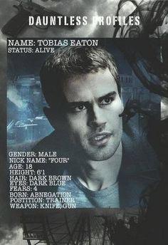 Four's Dauntless Profile!! - Divergent Four / Tobias