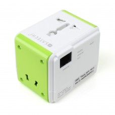 Satechi Smart Travel Router / Travel Adapter with USB Port for charging iOS, Android, Windows, Blackberry, MP3 devices, and more in US, CA, MX, UK, EU, AU, NZ, HK, and China