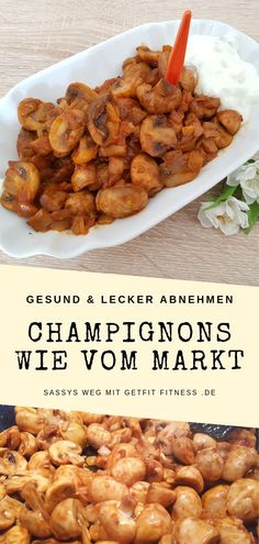 Champignons wie vom Jahrmarkt Who does not love them, the mushrooms from the fair or Christmas market? Now do it yourself, with this simple low carb recipe. Fried mushrooms, a delicious vegetarian alternative to bratwurst. Low Carb Desserts, Low Carb Recipes, Healthy Recipes, Snacks Recipes, Dinner Recipes, Grilling Recipes, Crockpot Recipes, Law Carb, Clean Eating Soup