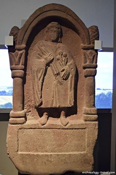 One of many Roman tombstones in the Great North Museum, Newcastle. Roman Britain, Living In England, Stone Sculpture, Archaeological Site, Stone Carving, Ancient Romans, Roman Empire, Newcastle, Great Britain