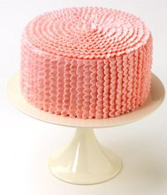 ruffle cake...would be a great smash cake! Not pink!