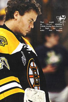 Tuukka Rask is signed with the Bruins with an 8 year $56 million contract
