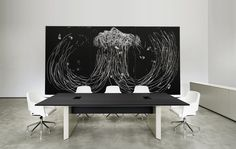 MV rectangular conference table by Agland & MAJOR chairs by SITIA