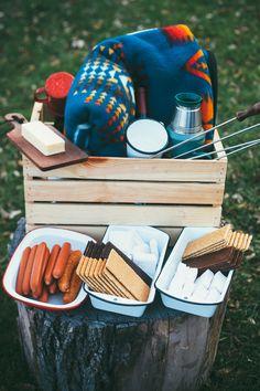 pinot noir marshmallows + a bonfire