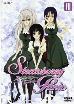 Strawberry Panic!   Aoi Nagisa is a first year high school student who has been sent to the Astraea Dormitory after her parents are transfered abroad. The dormitory houses girls from three different girls schools: St. Spica's Academy, St. Le Rim Girl's School and St. Miatre Girls Academy. There she meets the representative of the three girls schools, Hanazano Shizuma, also know as the Etoile, she is beloved by all the students at all the schools.