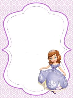 Free Printable Disney Borders And Frames ⋆ بالعربي نتعلم Princess Sofia Invitations, Princess Sofia Birthday, Sofia The First Birthday Party, Princess Party, 4th Birthday, Princesa Sophia, Tangled Party, Tinkerbell Party, Minnie Mouse Party