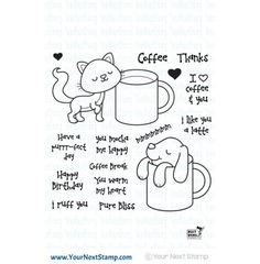 """Your Next Stamp """"Coffee Break"""" Clear Stamp Set *NEW*"""