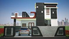 Simple Elevation In Revit Village House Design Facade House Front Wall Design, Single Floor House Design, Exterior Wall Design, Modern Small House Design, House Ceiling Design, Village House Design, Bungalow House Design, Facade Design, Floor Design