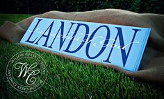 Personalized Name Sign with Quote  Gift for by WillowCreekCompany...would love to give something like this a try!
