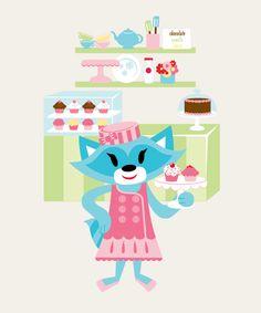 Sheree's cupcake shop #paulfrank #sheree