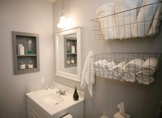 like this idea for bathroom or study, or anywhere... (under sink for towels so not on floor with my basket?)