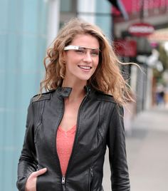 Augmented Reality will soon become a common technology. By providing mobile technologies to peoples glasses makes technology an even more dominant aspect to our lives. This can open the doors to a new world of mobile advertising Google Glass, Wearable Computer, Wearable Technology, Futuristic Technology, Smartphone, Google Goggles, Innovation, Future Gadgets, Glass Photo
