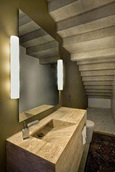 Agenda de Casa: Como estão as luminárias do banheiro? - Ideia para luminária ao lado do espelho