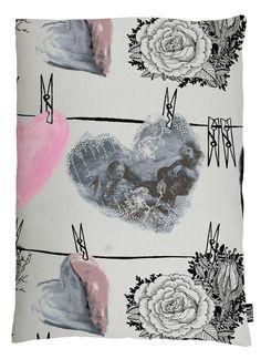 Vallila Interior AW14, Hehku cushion cover 60x80cm pink by Lauri Tähkä Heartdesign