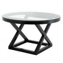 Eichholtz Stockholm coffee table - Occa Home Dining Table Design, Modern Dining Table, Round Dining Table, Dining Room Table, Black Accent Table, Black Table, Accent Tables, Mahogany Furniture, Black Furniture