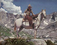"Mark Maggiori ""Rocky Mountain Cowboy"" 24×30 | Represented by Maxwell Alexander Gallery"