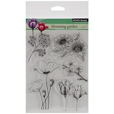 "Penny Black Clear Stamps 5""X6.5"" Sheet-Blooming Garden: Amazon.de: Küche & Haushalt"