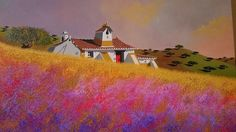 Algarve, Portugal, Painting, Paisajes, Rammed Earth, World, Fabrics, Paintings, Artists
