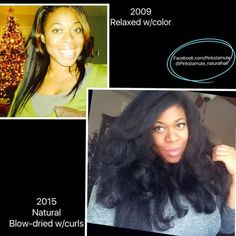 Kinky Curly Hair, Curly Hair Styles, Natural Hair Styles, Beautiful Black Hair, Natural Hair Transitioning, Natural Hair Journey, Unique Hairstyles, Hair Care Tips, Blow Dry