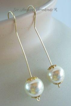 pendientes de perlas fácil y económico
