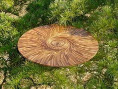 Laser-cut wood spirals in nature by mattkim99, via Flickr