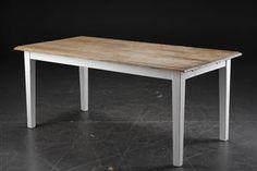 Langbord/Spisebord i fransk antik landstil. Elmetræ