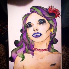 """""""Gothmaid"""" by Julianna Hunter. Watercolor and ink #watercolor"""