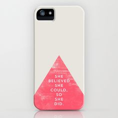 SHE BELIEVED SHE COULD SO SHE DID - TRIANGLE iPhone & iPod Case by Allyson Johnson - $35.00