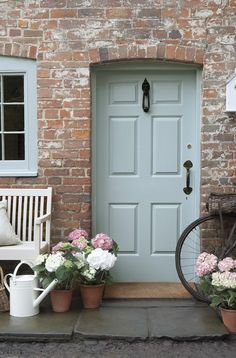 CELESTIAL BLUE FRONT DOOR. Paint by Little Greene available at Period Property Store