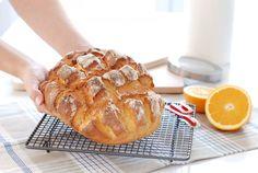 Pan rápido de naranja sin reposo con Thermomix Pan Rapido Thermomix, Thermomix Bread, No Knead Bread, Pan Bread, Muesli, Bread Machine Recipes, Sin Gluten, Baking Recipes, Catering