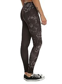 HOTTOPIC.COM - Of Mice & Men Floral Leggings