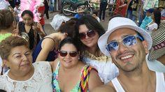Con Aleja y familia
