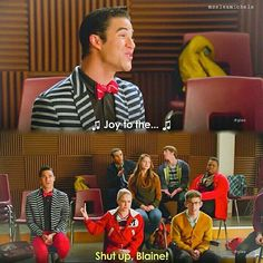 Just trying to lighten the mood this is why we love you blaine