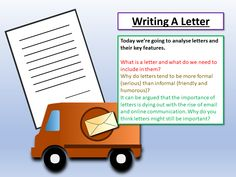 Students look at letter writing features in terms of language, structure and layout and use their notes to write their own formal letter. Aqa English Language, A Formal Letter, Letter Writing, Teaching Resources, Classroom Ideas, Student, Letters, Paper, Classroom Setup