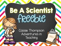 Are you teaching your students about what scientists do and the tools they use? Then this freebie is perfect for you! In this download you will get a Scientists Can, Have, Are tree map to use whole group or individually. You will also get a cut and glue labeling activity for the tools a scientist uses (hand lens, tweezers, balance, ruler, beaker, microscope, and googles).
