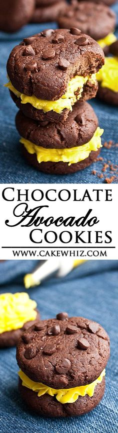 These vegan and healthy CHOCOLATE AVOCADO COOKIES are made with no butter, no eggs and no dairy. They are pillowy soft, rich and fudgy! From cakewhiz.com