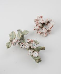 Available for sale from Maison Gerard, Matthew Solomon, Flowered branch, peony (2015), Glazed porcelain, 9 × 6 × 2 1/2 in