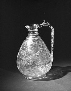 An Islamic rock crystal ewer, or jug, from Egypt (1000-1050 AD) Now in the V&A museum. They carved these out until they were just a few millimeters thick.