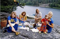 ABBA ❤•❦•:*´¨`*:•❦•❤ picnic, way back in 1974