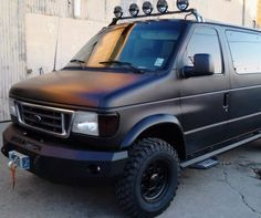 Iron Cross Base Winch Front Bumper for Ford Van - Gloss Black 4x4 Camper Van, 4x4 Van, Ambulance, Lifted Van, Cross Iron, Van Organization, Ford E Series, Astro Van, Trailers
