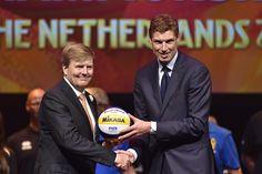 Onze Koning en toernooidirecteur Bas van der Goor