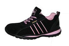 Oferta: 31.98€. Comprar Ofertas de Ottawa - Zapatos de seguridad para mujer, acero en la punta de los dedos, con cordones, ligeras, color rosa, talla 42 barato. ¡Mira las ofertas!